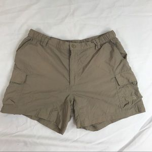 The north face tan hiking shorts